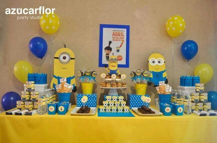 Decorao prrafo Festa Infantil Minions kids Party Pinterest
