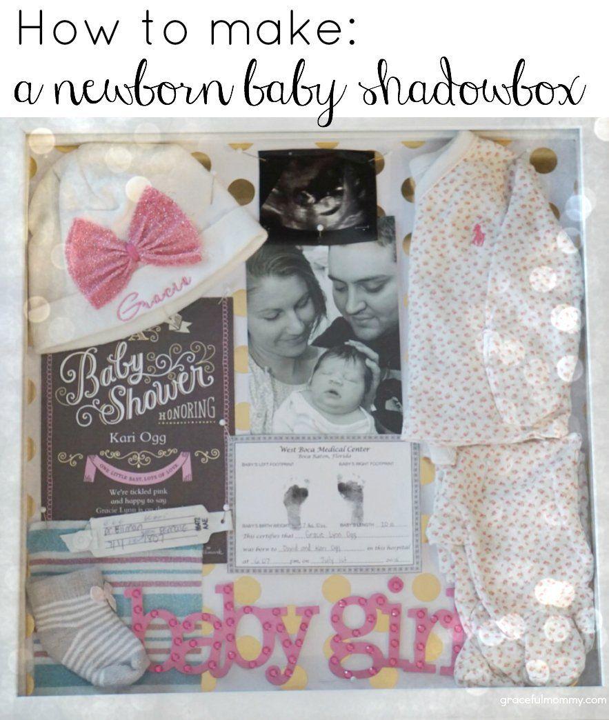 DIY newborn baby shadow box- Great ideas! | gracefulmommy.com | Baby ...