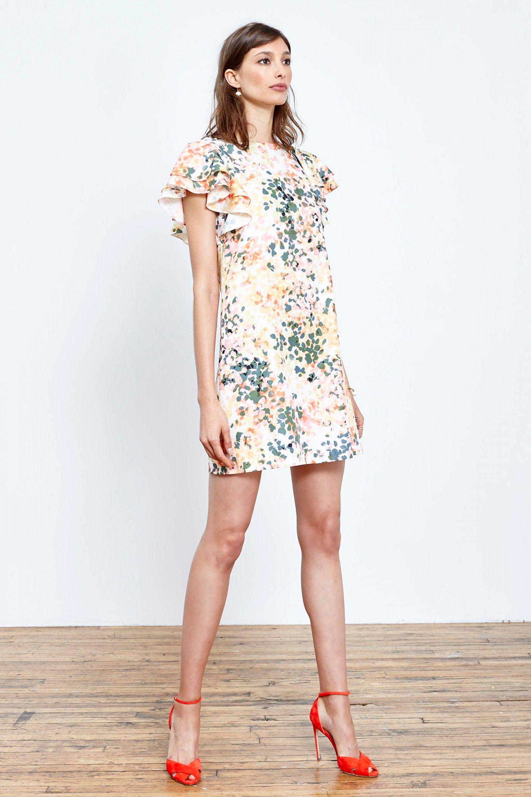 Donna Morgan Scarlett Flutter Sleeve Shift Dress - the perfect Spring dress