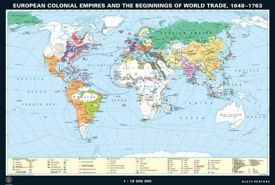european colonial empires the beginnings of world trade 1648 1763