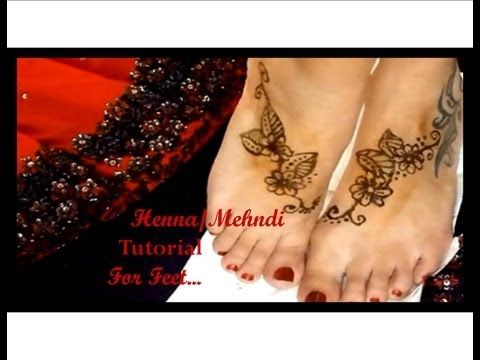 Easy Mehndi Tattoo Foot : Easy henna tutorial for your feet youtube feets