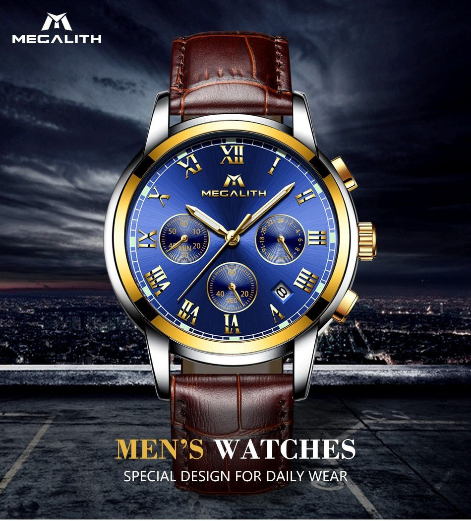 40d34a3e7eed MEGALITH Watches Men Sports Waterproof Date Analogue Quartz Men s Watches  Chronograph Business Watches For Men Relogio