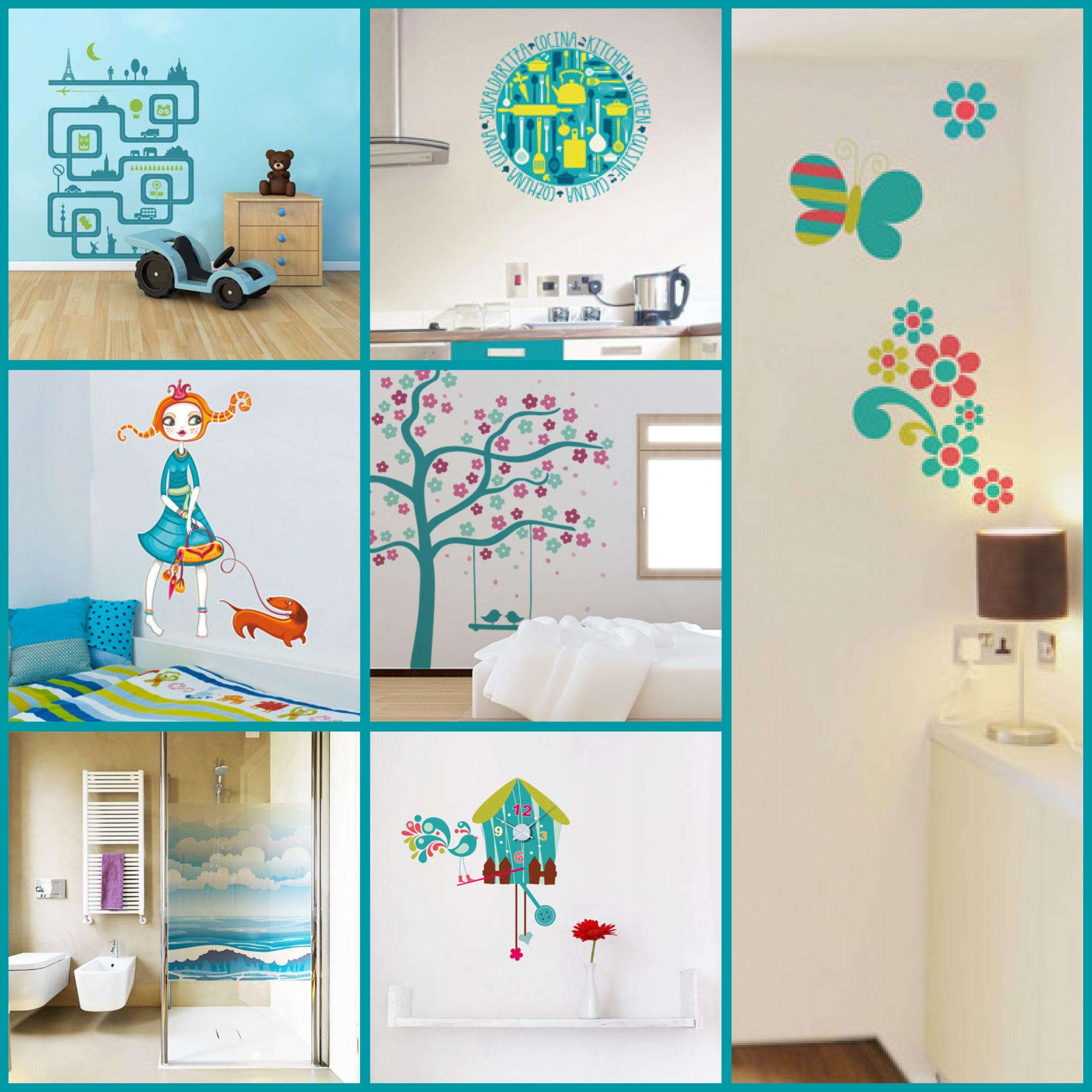 Selección de vinilos decorativos de color turquesa. http ...