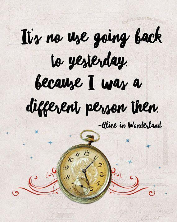 Lewis Carroll Alice in Wonderland quote print,