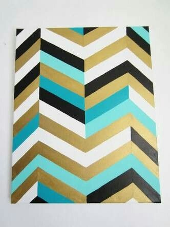 Pin By Laura Brits On Colour Schemes Chevron Art Painting