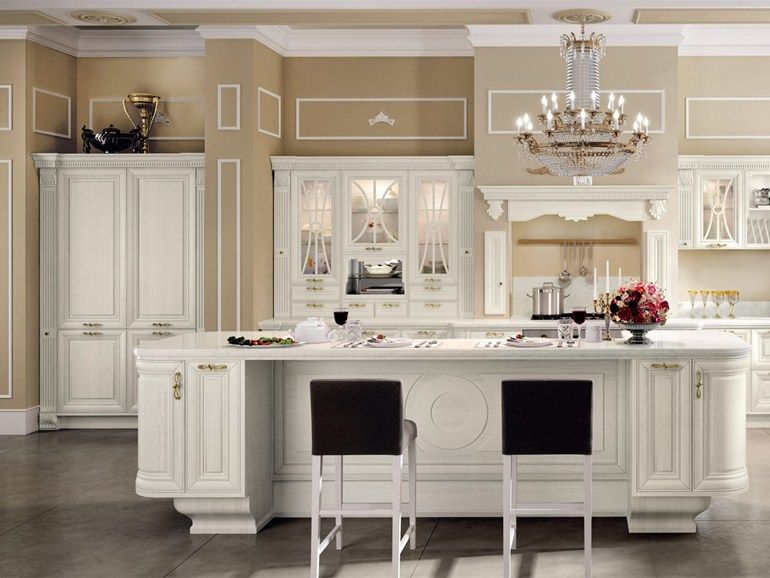 Cucina decapata con isola PANTHEON | Cucina by Cucine Lube | kitchen ...