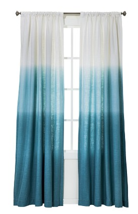 Blue Ombre Curtains From Target I Bought Six For The Living Room I Can T Wait To Put Them Up Ocean Themed Bedroom Beach Themed Bedroom Beachy Room