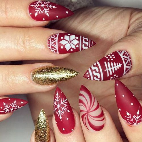 Best Acrylic Christmas Nails 71 Acrylic Christmas Nail Designs