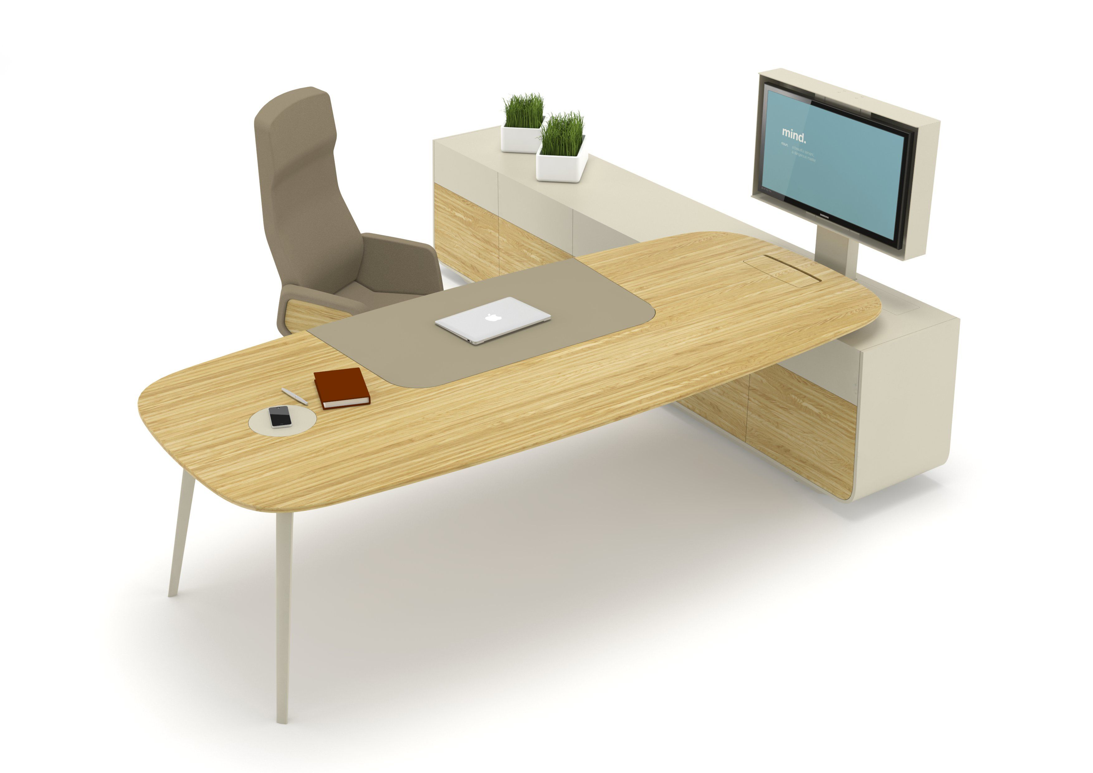 Executive Desk With Shelves ASHBURY By NURUS