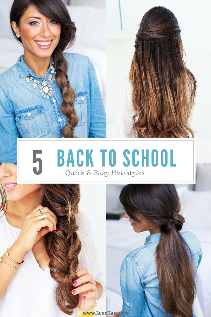 quick and easy hairstyles perfect for school or work click to