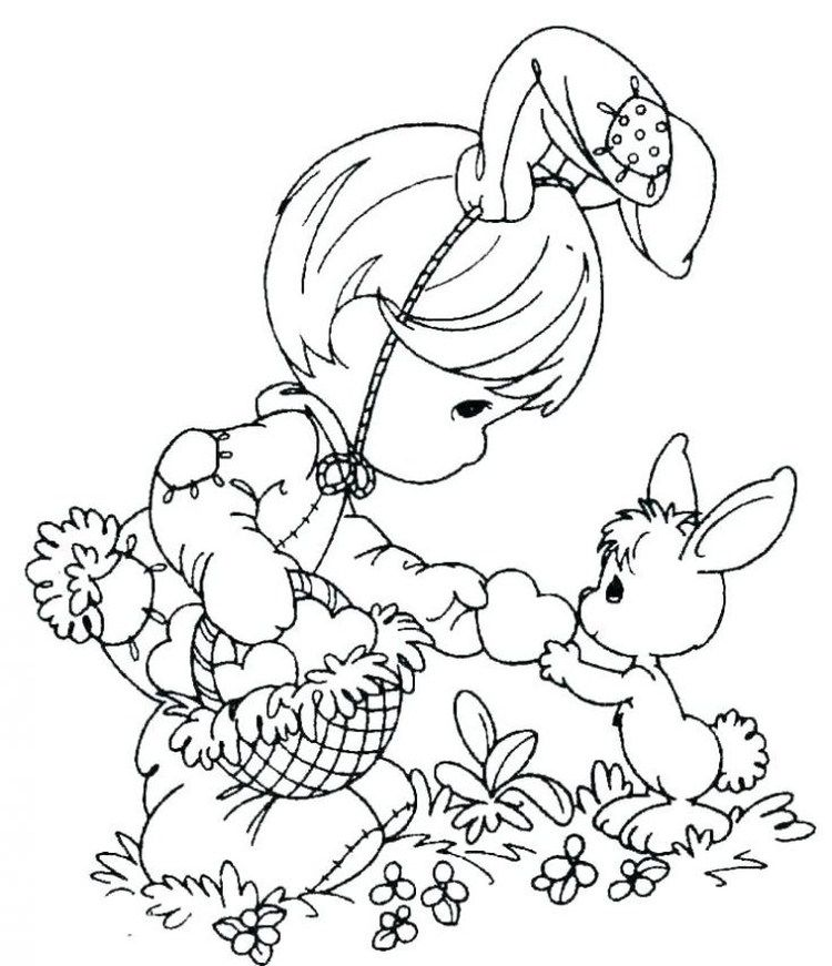 Printable Easter Egg Coloring Pages Precious Moments Coloring
