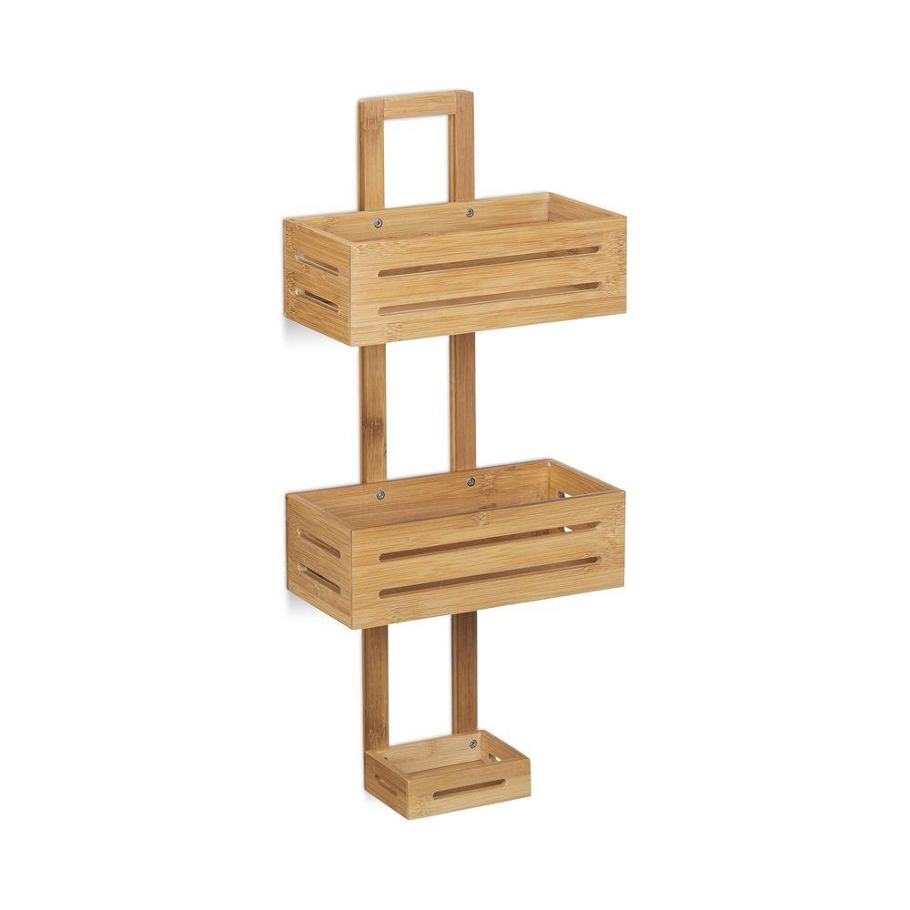 Duschregal Duschablage Bambus Duschkorb Holz Wandregal