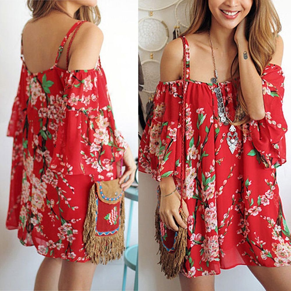 9c1f2d300ff Summer Women Sexy Evening Cocktail Beach Casual Mini Floral Party Short  Dress  Unbranded  Sexy  Casual