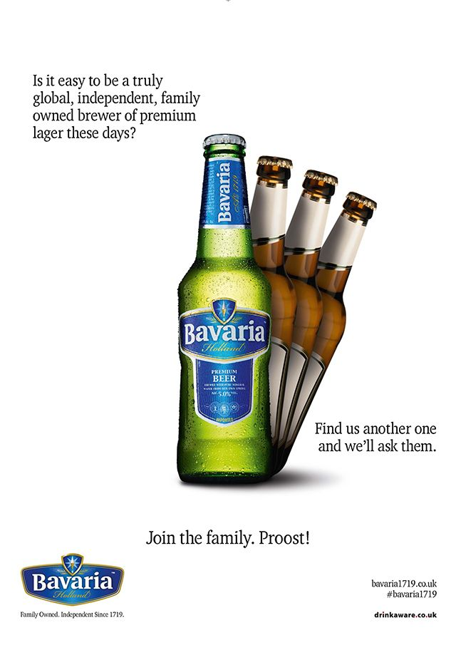Strawman Agency\'s print advertising campaign for Bavaria beer during ...