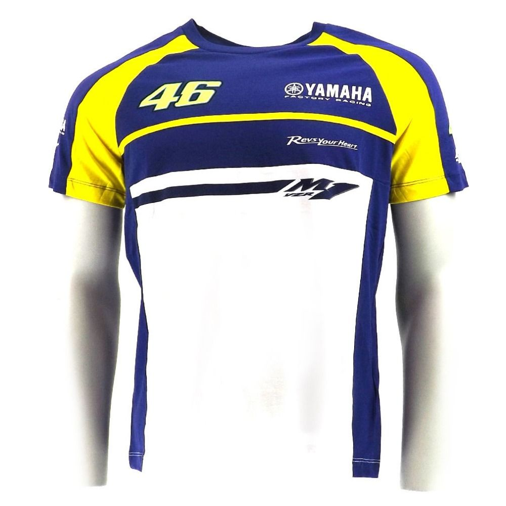 New 100 Cotton Luna Rossi Vr46 For Yamaha M1 Racing Team Moto Gp Shirt Men Sprot T Shirt Racing Shirts Mens Shirts Racing Team