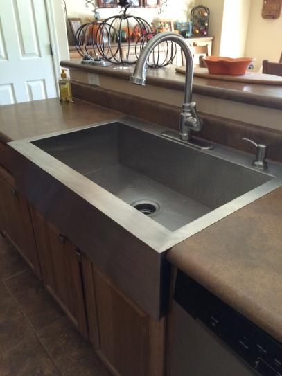 Kohler Vault Top Mount A Front Stainless Steel 36 In 4 Hole Single Bowl Kitchen Sink K 3942 Na At The Home Depot Mobile