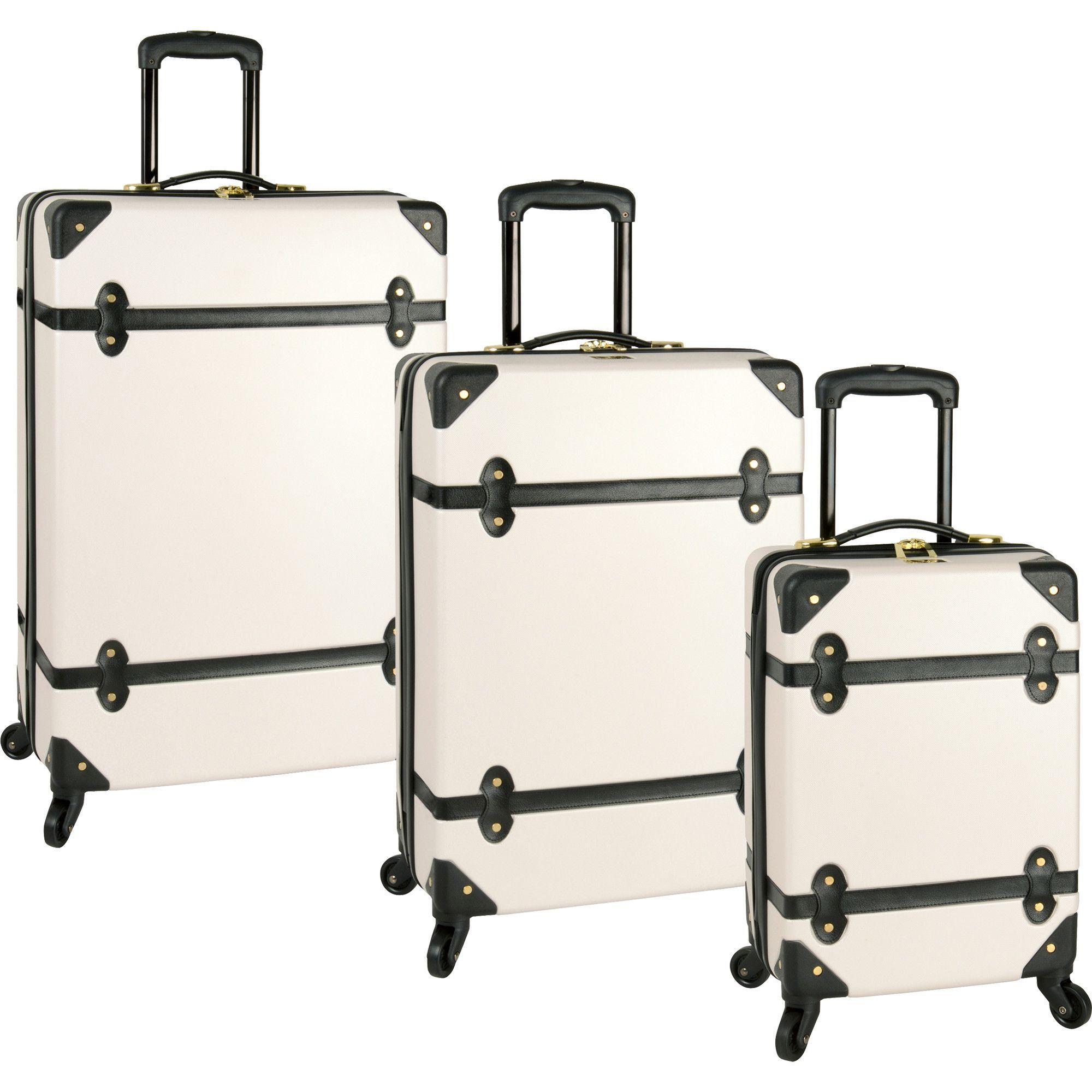 luggage hardside vintage style
