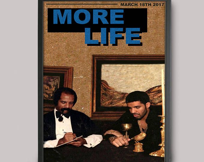 Drake More Life Custom Poster // High Quality // A3 Album Art ...