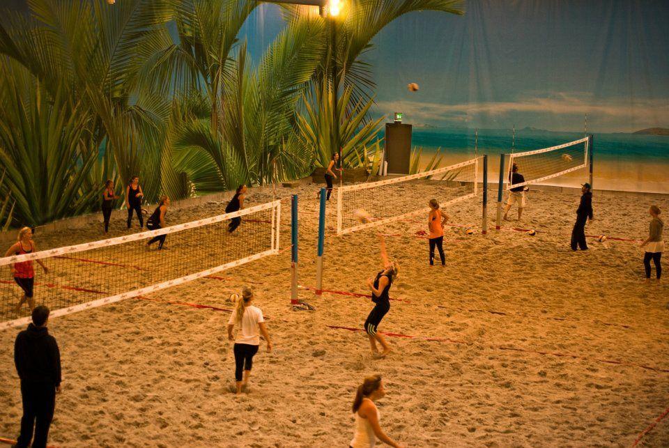 World S Largest Indoor Beach Volleyball Complex In Sweden Indoor Beach Beach Volleyball Beach Tennis