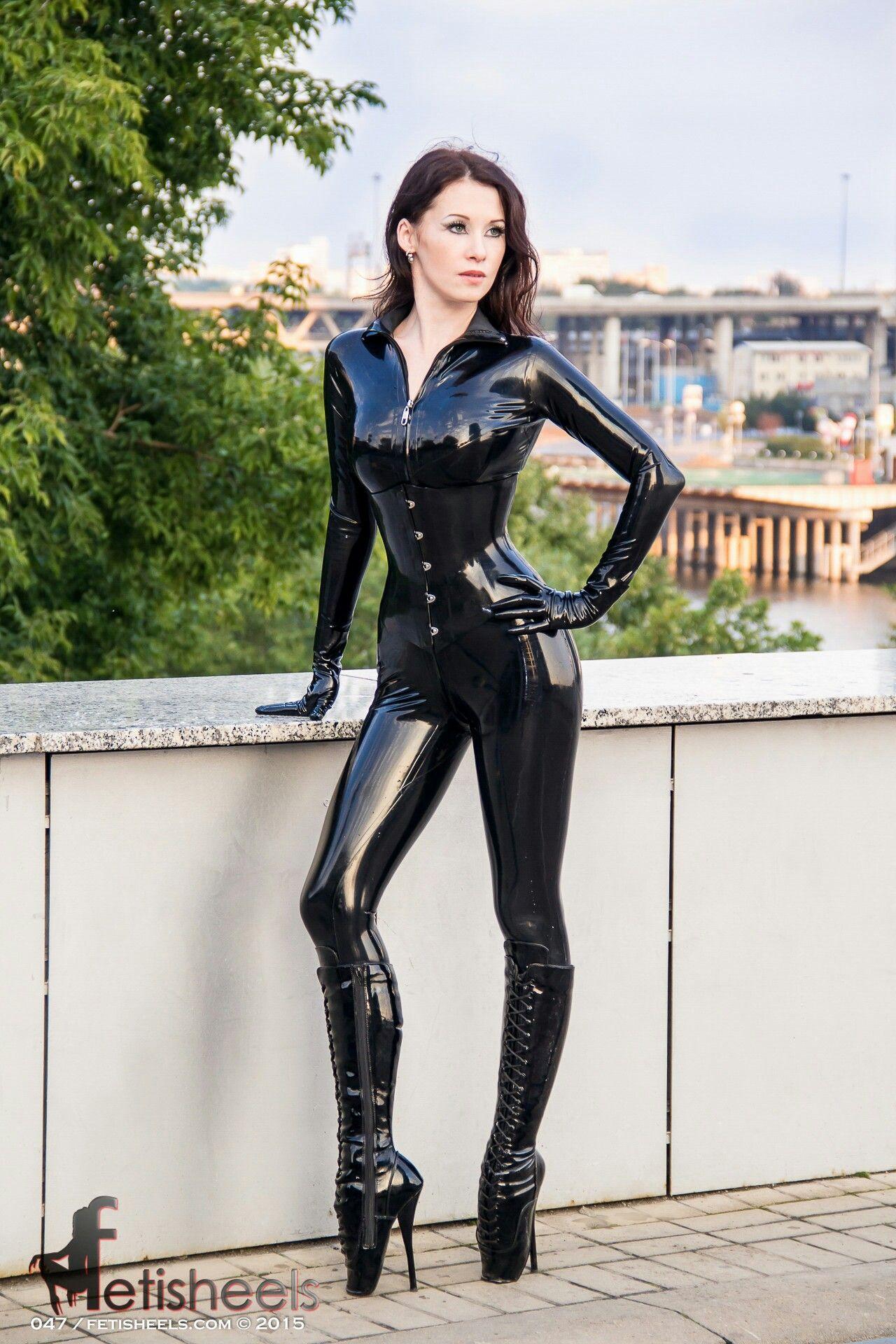 Adult Images 2020 Female latex catsuit bondage