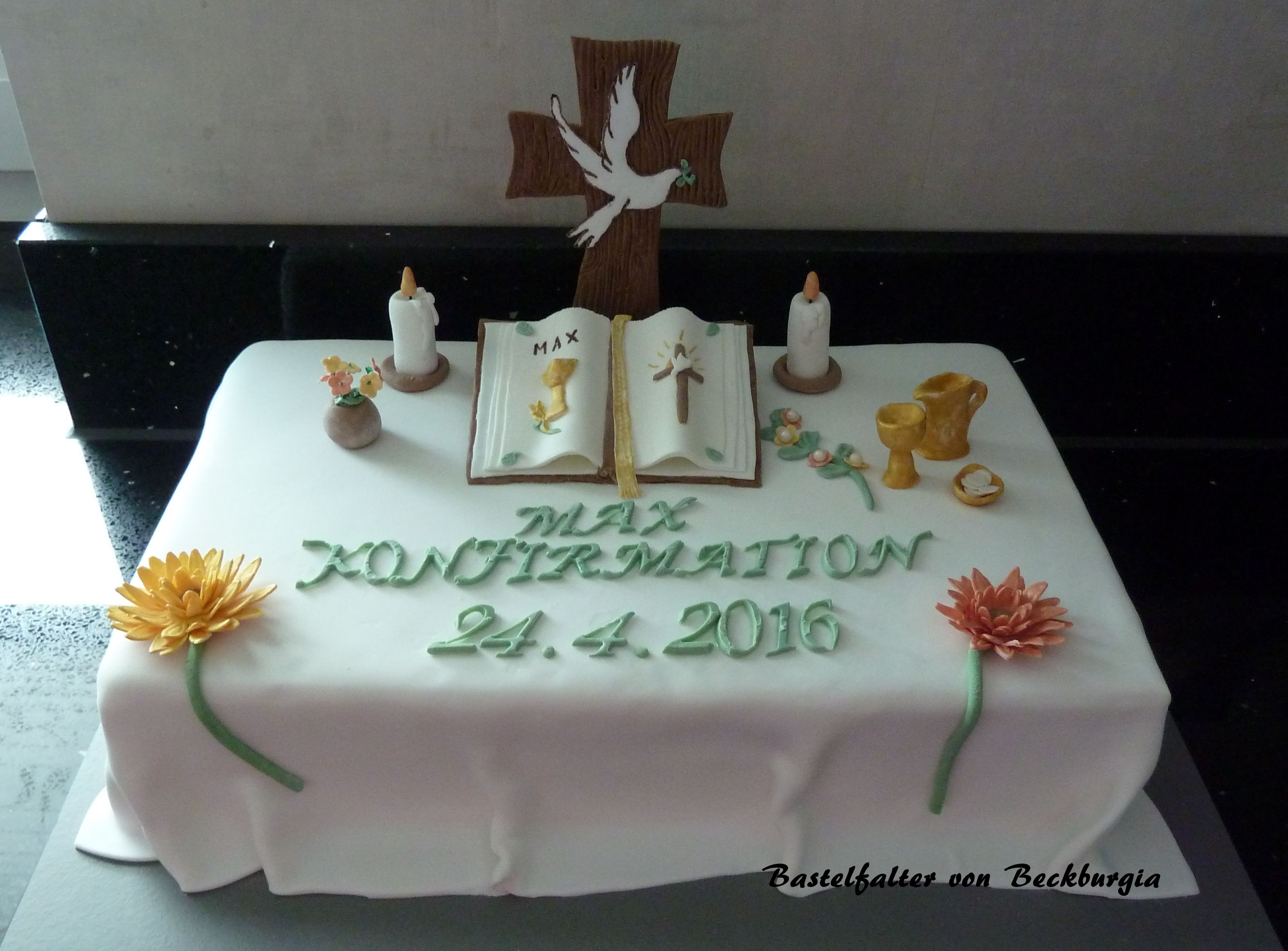 Konfirmationstorte fondant