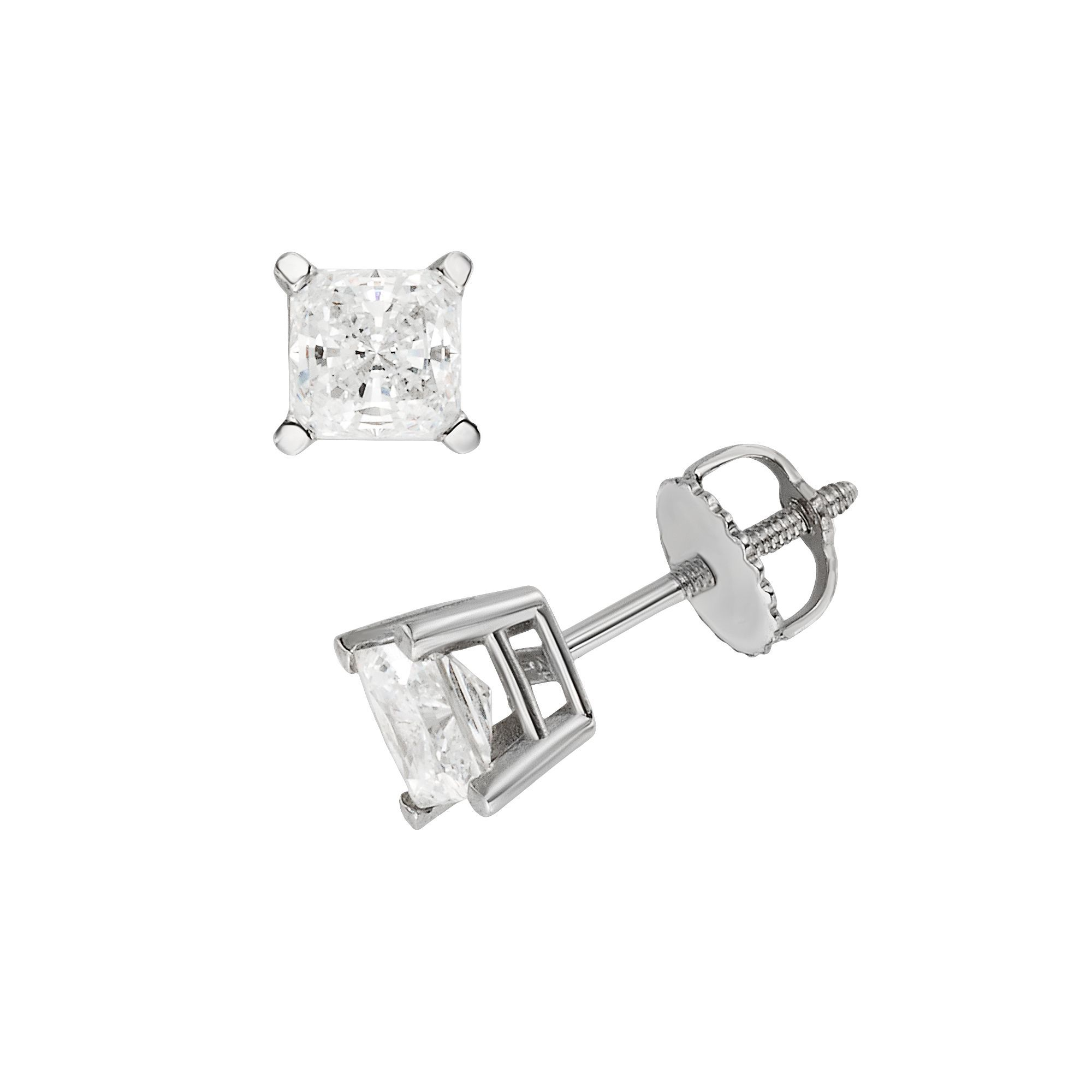 brilliant aurora claw earrings studs diamond brilliantcut stud solitaire cut sixclaw
