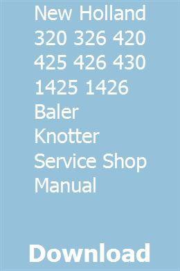 New Holland 269 Baler Operators Manual Material Handling Products ...