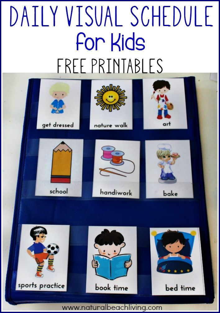 daily visual schedule for kids free printable preschool