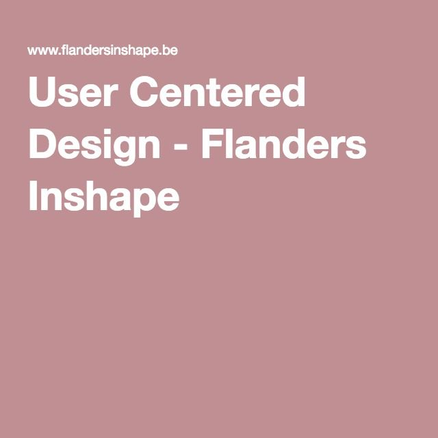 User Centered Design - Flanders Inshape