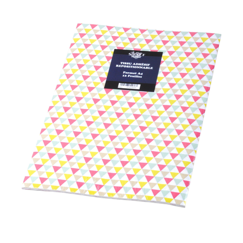 Sticker Adhesif Tissu Isocele Rose 21 Cm X 29 7 Cm Avec Images Tissu
