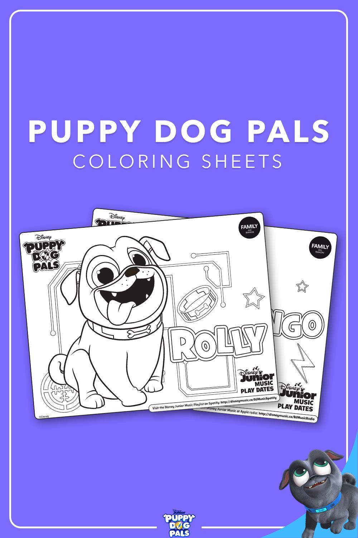 Coloring Sheets Puppy Dog Pals Coloring Sheets Dogs And Puppies Disney Diy
