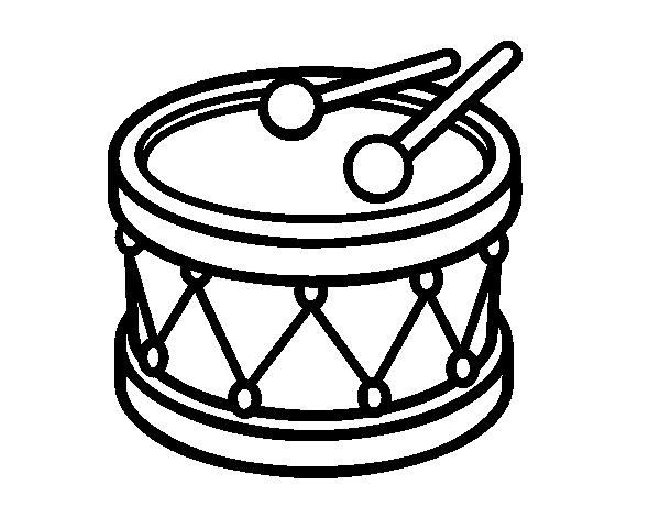 Dibujo De Un Tambor De Juguete Para Pintar Colorear O Imprimir Colorea Online Con Dibujos Net Y Podras Compartir Juguetes Para Colorear Tambor Dibujo Tambor