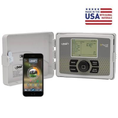 Orbit B Hyve 12 Zone Indoor Outdoor Smart Sprinkler Controller Works With Amazon Alexa 57950 Sprinkler Timer Irrigation Timer Sprinkler Controller