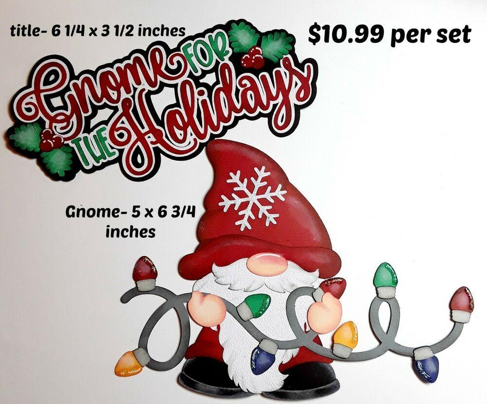 MRS.CLAUS CHRISTMAS scrapbook premade paper piecing  3D die cut for by Rhonda