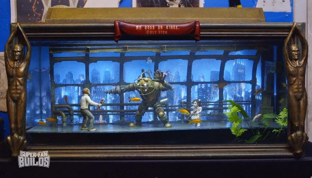 Bioshock themed aquarium video game fun pinterest for Fish tank game