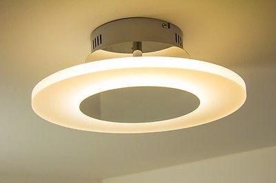 Moderne Lampen 18 : Design led deckenlampe leuchte chrom lampe deckenleuchte leuchten