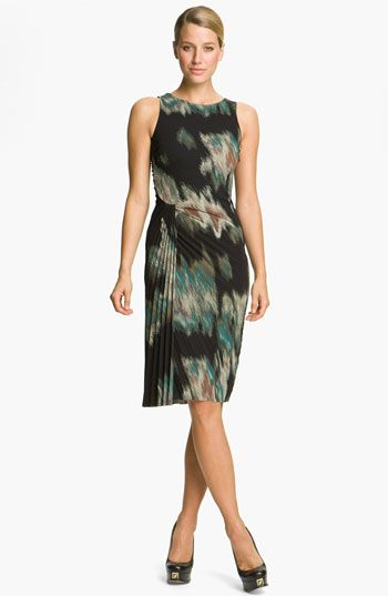 Halston Heritage Pleated Crepe Dress available at #Nordstrom