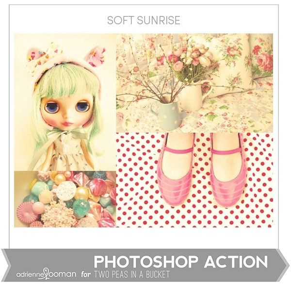Photoshop Action Soft Sunrise by Adrienne Looman - Two Peas in a Bucket