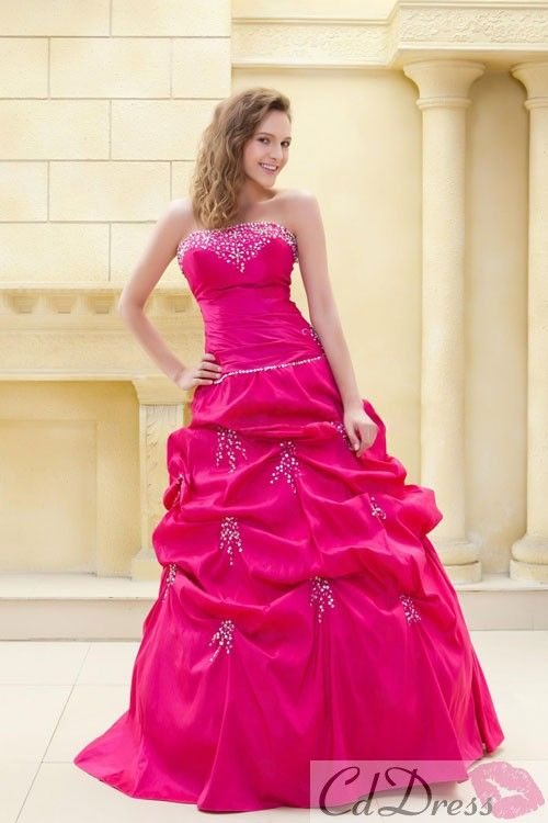 Fantastic Ball Gown Sweetheart Floor-length Taffeta Beading Prom Dress - PROM - CDdress.co