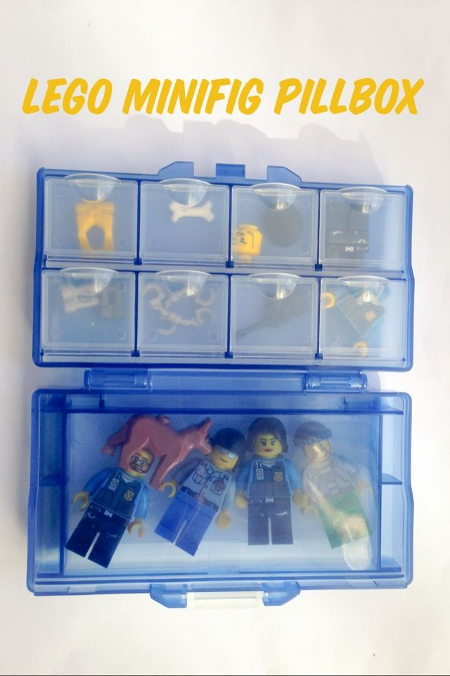 Genius Cheap Amp Easy Way To Organize Lego Minifigs For Storage And Travel Using Pill Boxes From