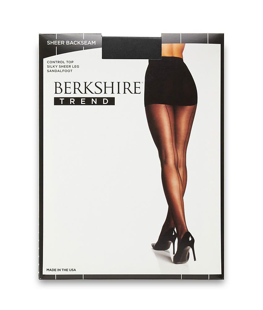 e57ed5496 Berkshire Sheer Back Seam Control Top Pantyhose Hosiery - Women s Seam  Control Berkshire