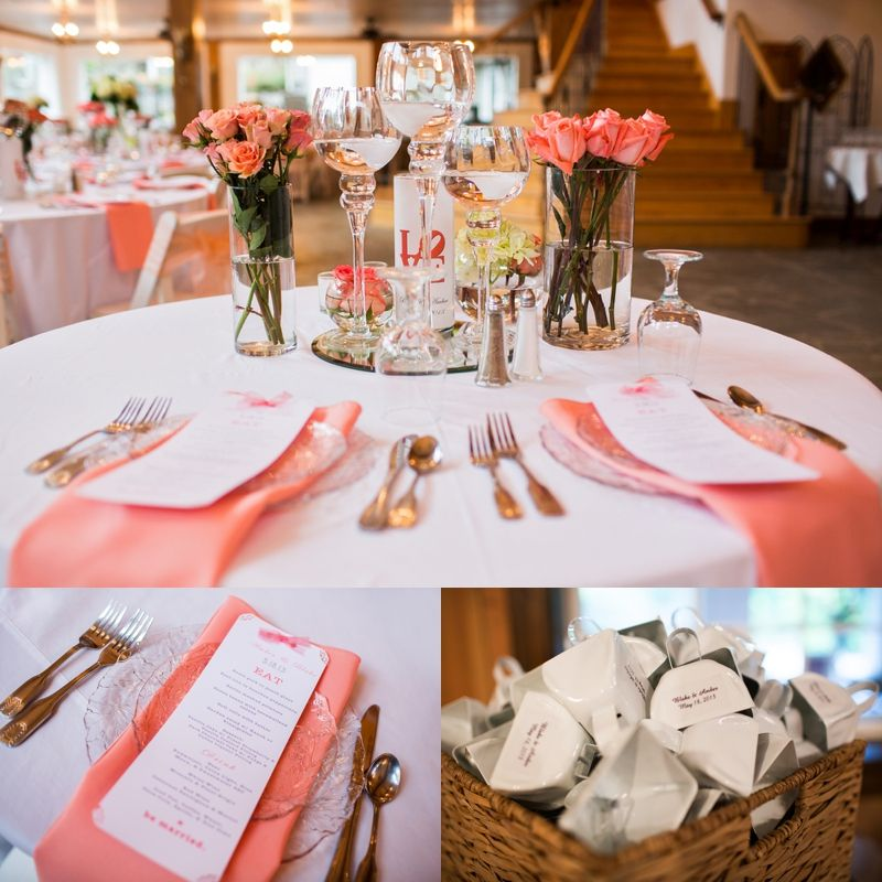 Coral Wedding Reception Ideas: Peach And Coral Georgia Wedding