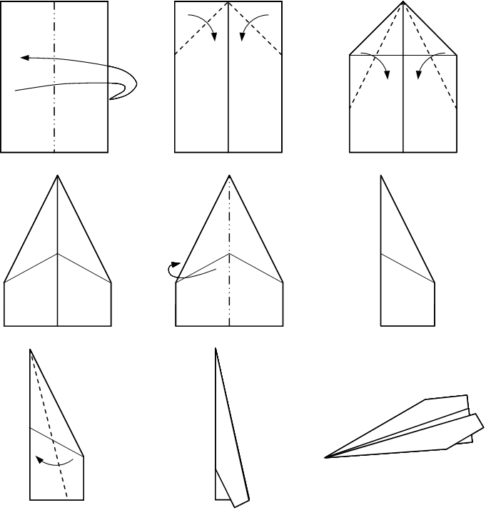 instructions for a traditional paper plane others rh pinterest com Paper Airplanes Step by Step paper airplane folding diagram