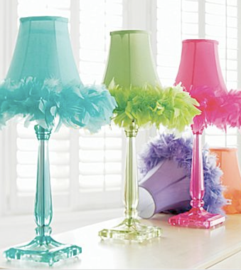 add feathers to any lamp! Little girl\'s room? So darling! | Girly ...