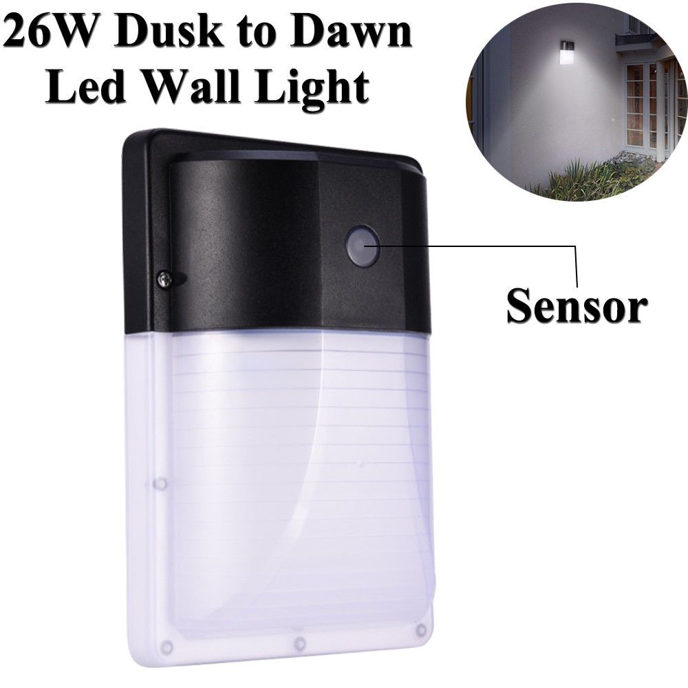 Outdoor Dusk To Dawn Led Wall Mount Security Light Photocell Lighting Waterproof Security Lights Wall Mounted Light Outdoor Security Lights