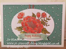 Jo-Jo's Crafty Blog: Flooding Birthday Blooms...