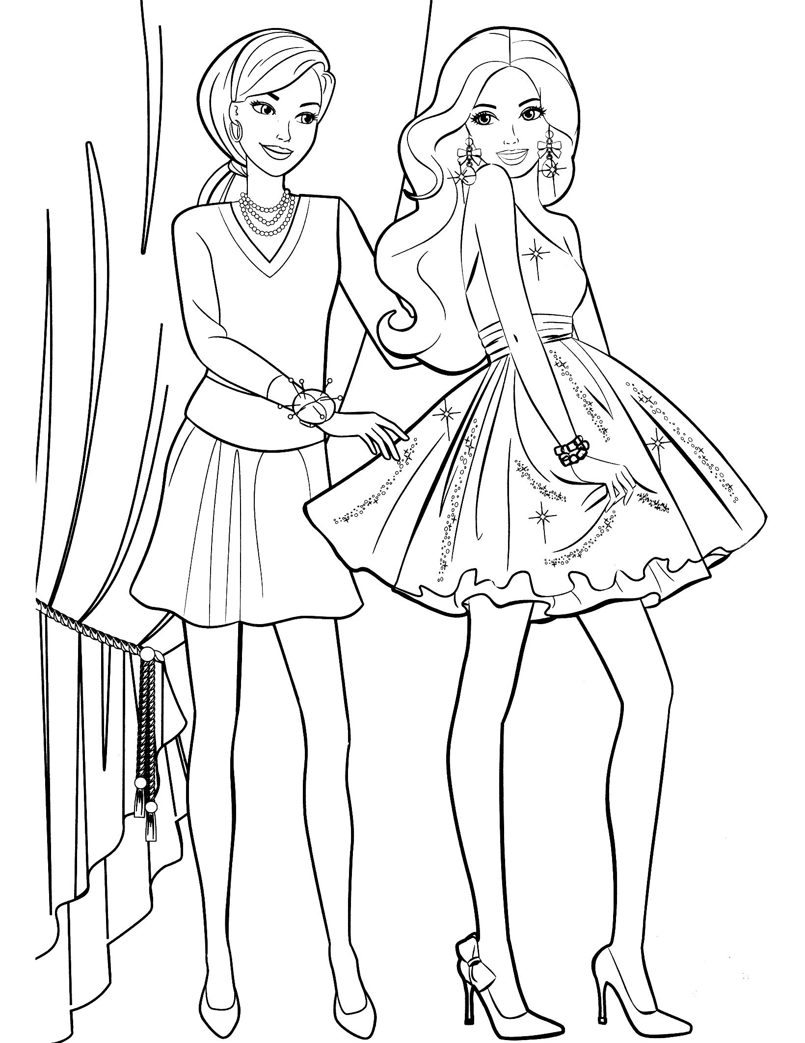 Barbie Girl Coloring Pages Nice Coloring Pages For Kids   Fashion ...