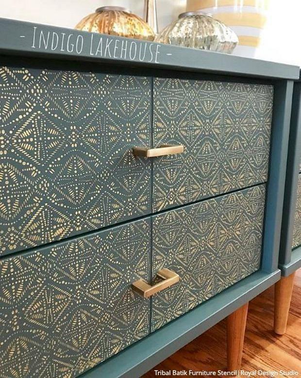 Paint Batik Fabric Designs with Wall Stencils & Fu