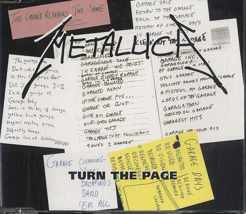"For Sale - Metallica Turn The Page UK  CD single (CD5 / 5"") - See this and 250,000 other rare & vintage vinyl records, singles, LPs & CDs at http://eil.com"