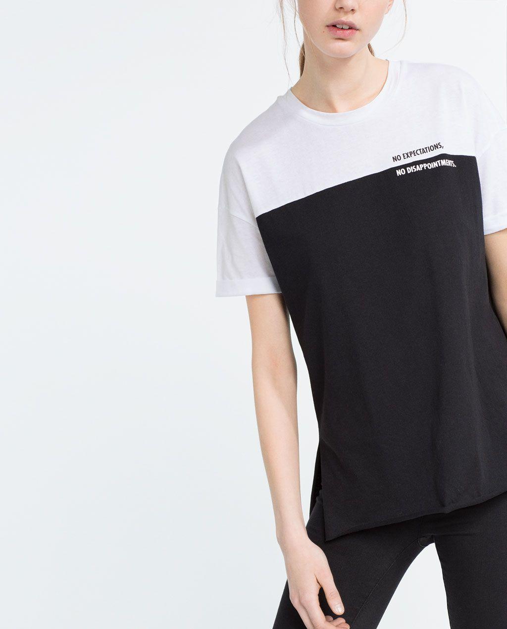Image 2 de T-SHIRT COLOR BLOCK de Zara
